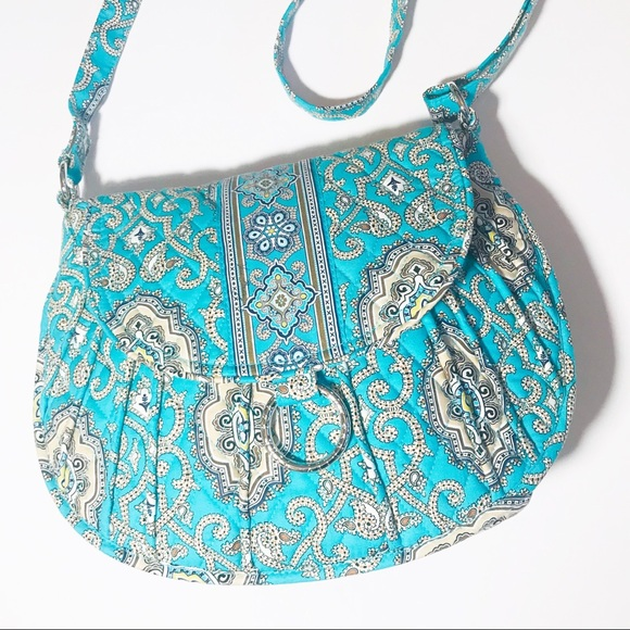 Vera Bradley Handbags - Vera Bradley Saddle Up Totally Turquoise Crossbody